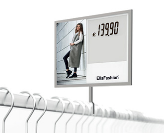 large electronic price label